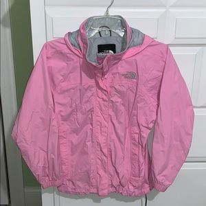 Girl's NORTH FACE Pink Rain Coat M 12-14